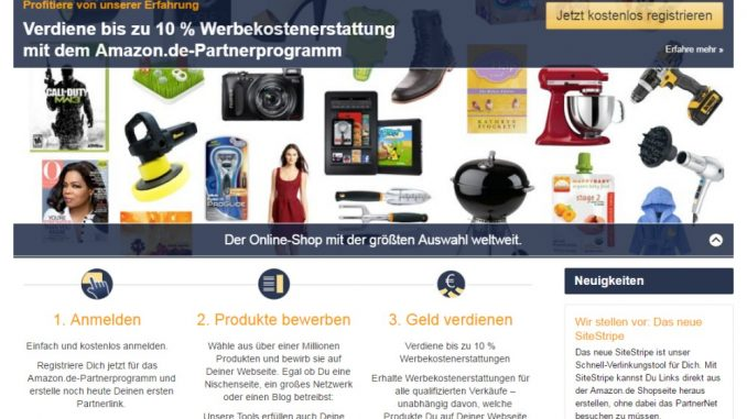 Neues Amazon Partnernet