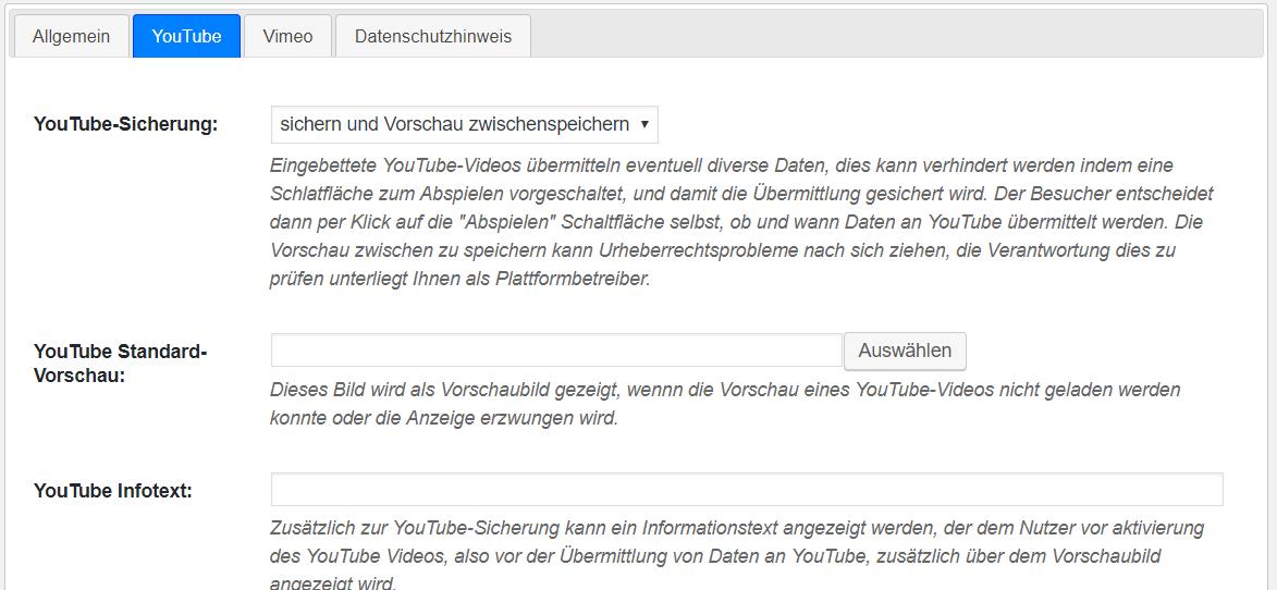 Youtube DSGVO einbinden