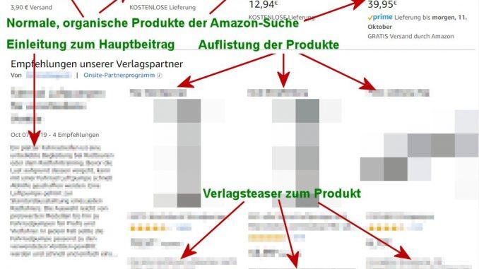 Onsite Content auf Amazon